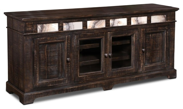 Awesome Famous Sideboard TV Stands For Onyx Solid Wood 75 Tv Standsideboard Traditional (View 36 of 50)