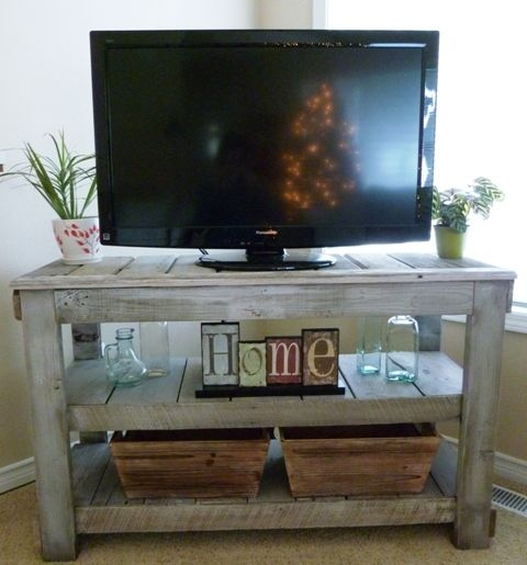 Awesome Famous TV Stands With Baskets Pertaining To 25 Best Rustic Tv Stands Ideas On Pinterest Tv Stand Decor (Image 5 of 50)