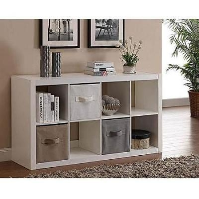 Awesome Famous TV Stands With Storage Baskets Within Organizer 8 Cube Storage Book Shelves Eight Square Tv Stand Toy (View 3 of 50)