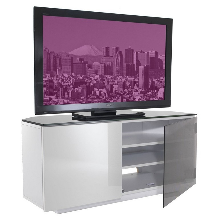 Awesome Famous White TV Stands For Flat Screens For Furniture All Glass Tv Stand Tv Wall Cabinet Universal 50 Inch (Image 7 of 50)
