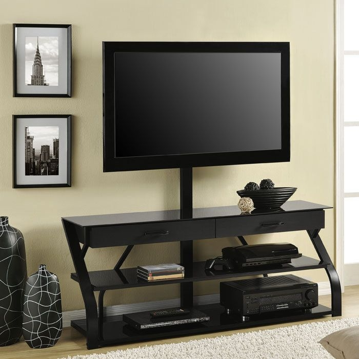 Awesome Fashionable 44 Swivel Black Glass TV Stands For Tv Stands Awesome Tv Stand Mounts 2017 Design Tv Stand Mounts Tv (Image 5 of 50)