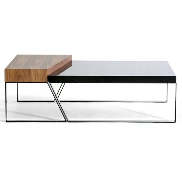 Awesome Fashionable Black Wood And Glass Coffee Tables With Regard To Confortable Black Wood And Glass Coffee Table With Interior Home (Image 4 of 49)