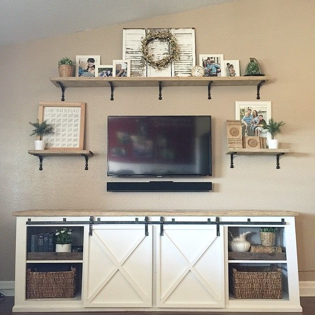 Awesome Fashionable Bracketed TV Stands Inside Best 25 Tv Center Ideas On Pinterest Rustic Tv Console Wall (Image 5 of 50)