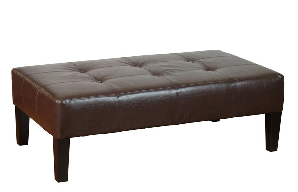 Awesome Fashionable Brown Leather Ottoman Coffee Tables With Brown Leather Ottoman Coffee Table With Trays Coffee Tables (View 13 of 50)