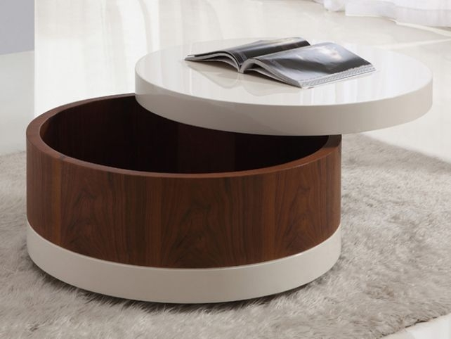Awesome Fashionable Circular Coffee Tables With Storage In Circular Coffee Table (Image 3 of 50)
