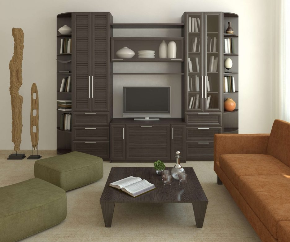 Living Room Cabinet Design In India: 50+ Fancy TV Cabinets