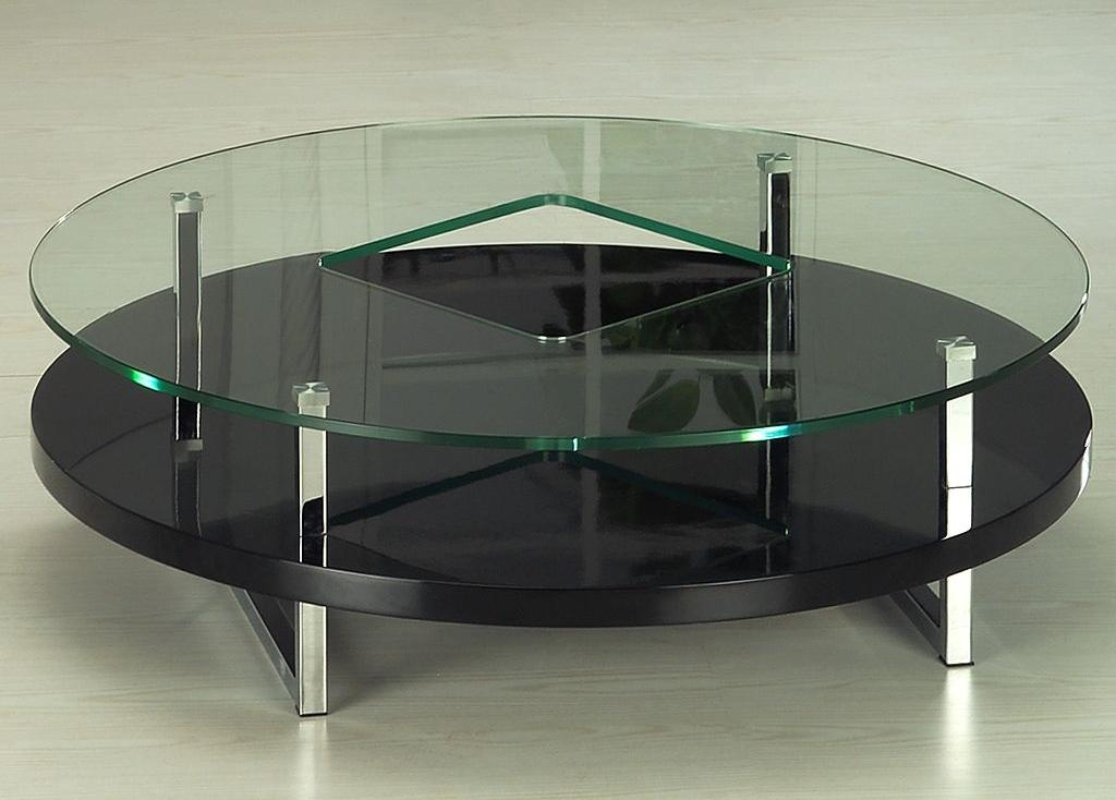 Awesome Fashionable Glass And Black Coffee Tables With Regard To Coffee Table The How To Decorate Black Glass Coffee Table Set (Image 6 of 50)