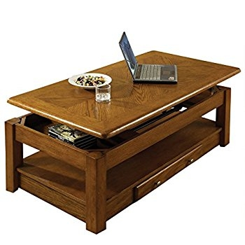 Awesome Fashionable Lift Top Oak Coffee Tables In Amazon Lift Top Coffee Table Oak With Storage Drawers And (Image 5 of 40)