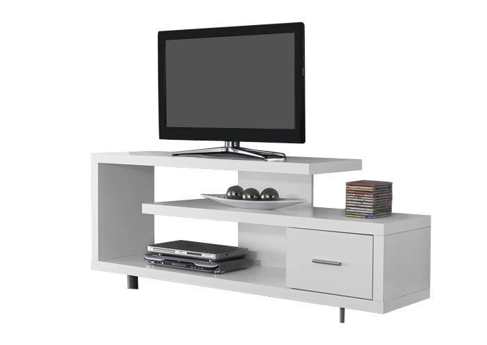 Awesome Fashionable Long White TV Cabinets Inside Modern Tv Stands Entertainment Centers Allmodern (Image 7 of 50)