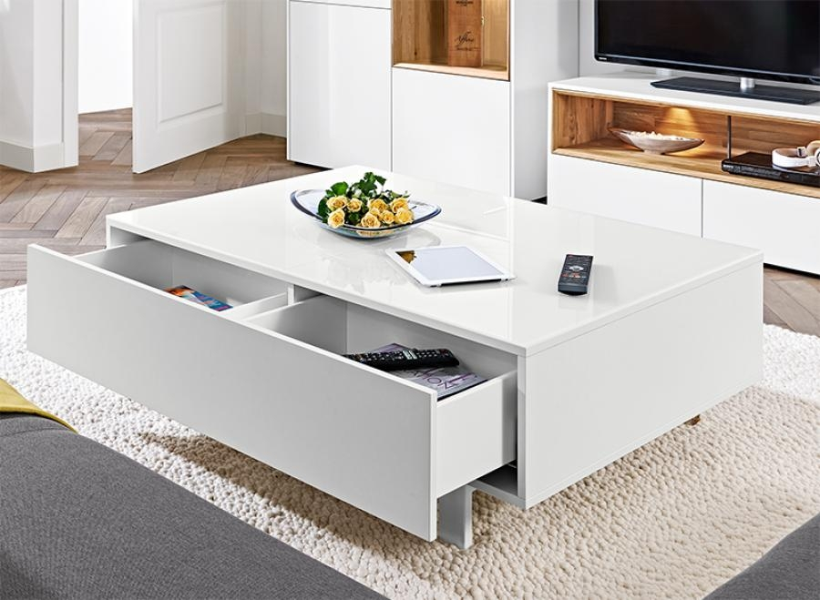 Awesome Fashionable Low Coffee Tables With Drawers For Living Room The Most Low White Modern Coffee Table Contemporary (Image 7 of 50)