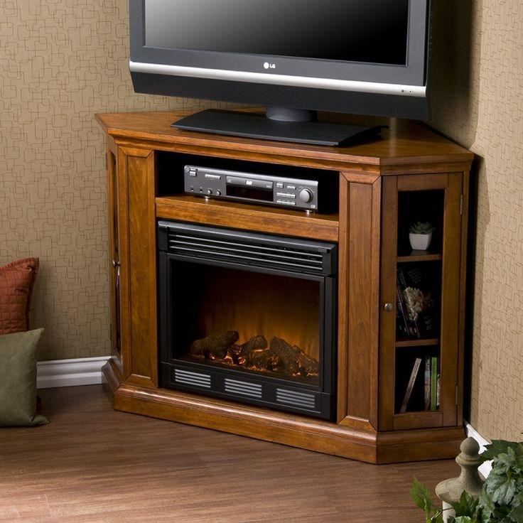 Awesome Fashionable Mahogany Corner TV Stands Inside 43 Best Corner Fireplace Tv Stand Images On Pinterest Corner (Image 5 of 50)
