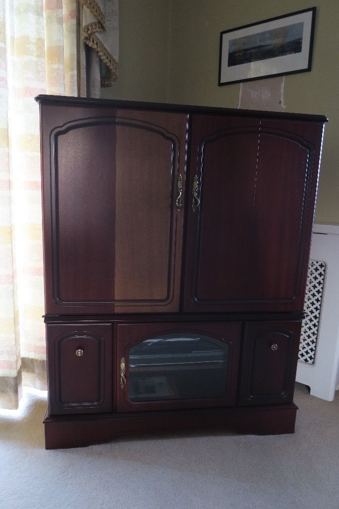 Awesome Fashionable Mahogany TV Cabinets In Mahogany Tv Cabinet In Porthcawl Bridgend Gumtree (View 41 of 50)