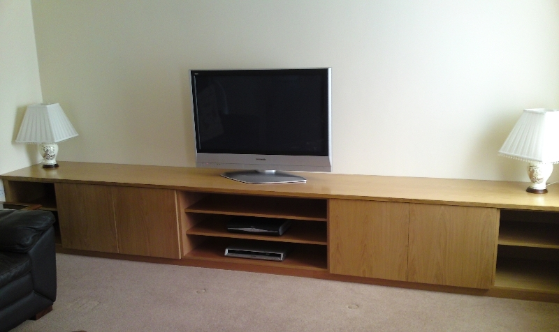 Awesome Fashionable Oak Veneer TV Stands Within Made To Measure Tv Stands Built Near Leeds West Yorkshirefine (Image 8 of 50)