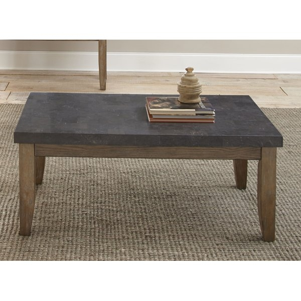 Awesome Fashionable Pine Coffee Tables For Loon Peak Pine Knob Bluestone Coffee Table Reviews Wayfair (View 40 of 50)