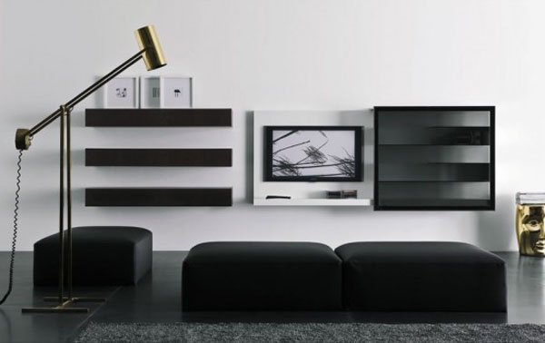 Awesome Fashionable Small Black TV Cabinets Within Contemporary Tv Cabinets For Flat Screens Roselawnlutheran (Image 8 of 50)