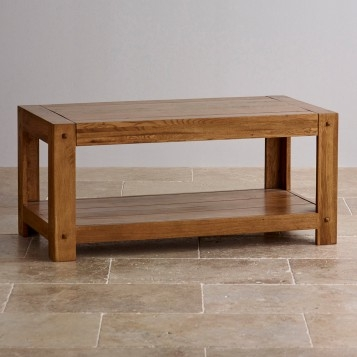 Awesome Fashionable Solid Oak Coffee Tables Throughout Quercus Rustic Solid Oak Coffee Table Oak Furniture Land (View 32 of 50)