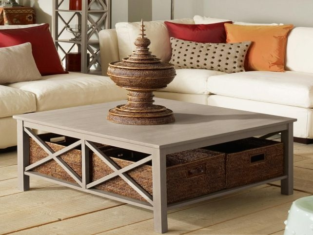 Awesome Fashionable Square Coffee Tables With Storage Cubes Regarding Best 25 Large Square Coffee Table Ideas On Pinterest Large (Image 7 of 40)