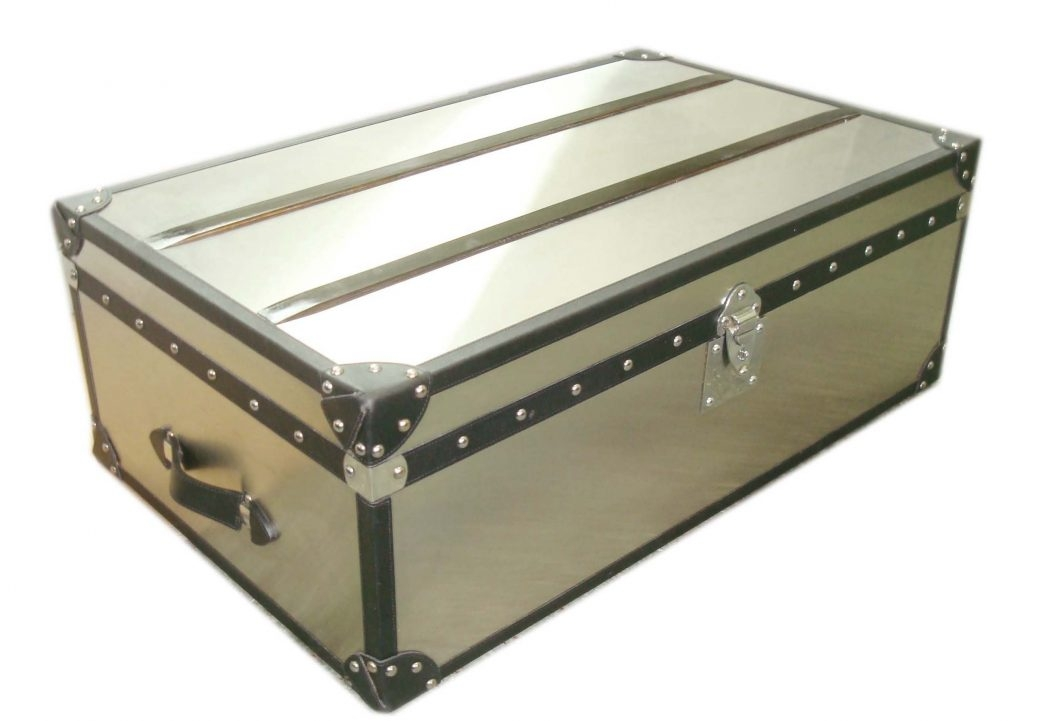 Awesome Fashionable Stainless Steel Trunk Coffee Tables Throughout Stainless Steel Coffee Table Tables Trunk Thippo (View 13 of 50)