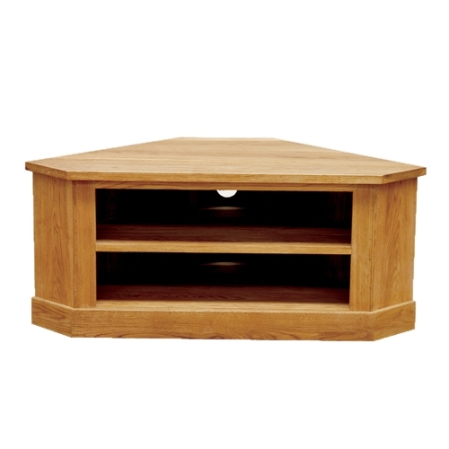 Awesome Fashionable TV Cabinets Corner Units Throughout Brooklyn Contemporary Oak Low Corner Tv Cabinet (Image 3 of 50)