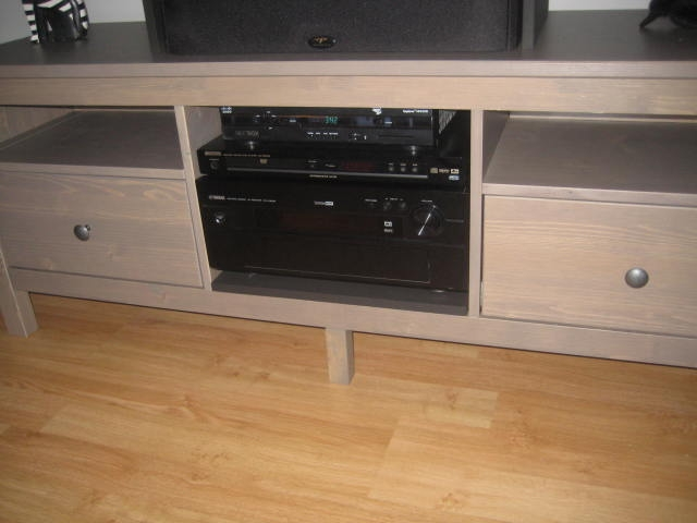 Awesome Fashionable TV Stands Over Cable Box For Hemnes Stereotv Stand Ikea Hackers Ikea Hackers (Image 6 of 50)
