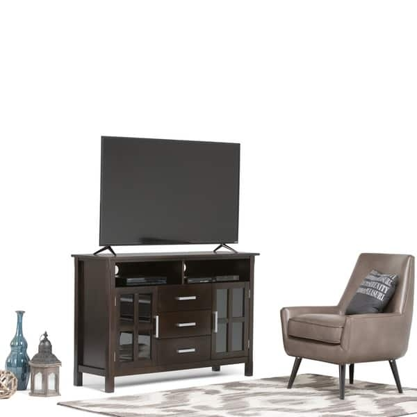 Awesome Fashionable Walnut TV Stands With Wyndenhall Waterloo Walnut Brown Tall Tv Stand For Tvs Up To (View 42 of 50)