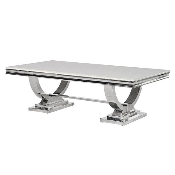 Awesome Fashionable White And Chrome Coffee Tables Pertaining To Glass And Chrome Coffee Table (Image 6 of 50)
