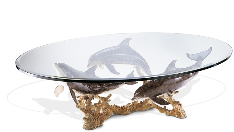 Awesome Favorite Art Coffee Tables Throughout Dolphin Reef Coffee Table (Image 4 of 50)