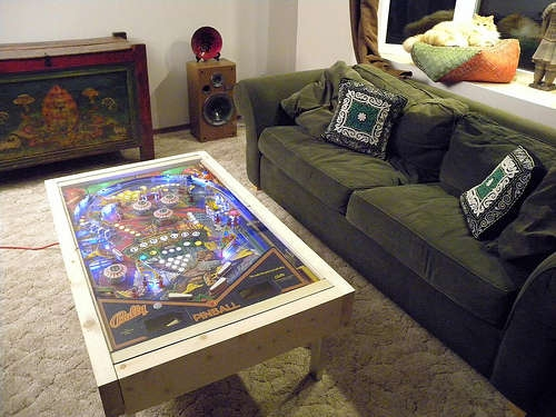 Awesome Favorite Art Coffee Tables With Regard To Led Pinball Coffee Table Now This Is Art Walyou (Image 5 of 50)