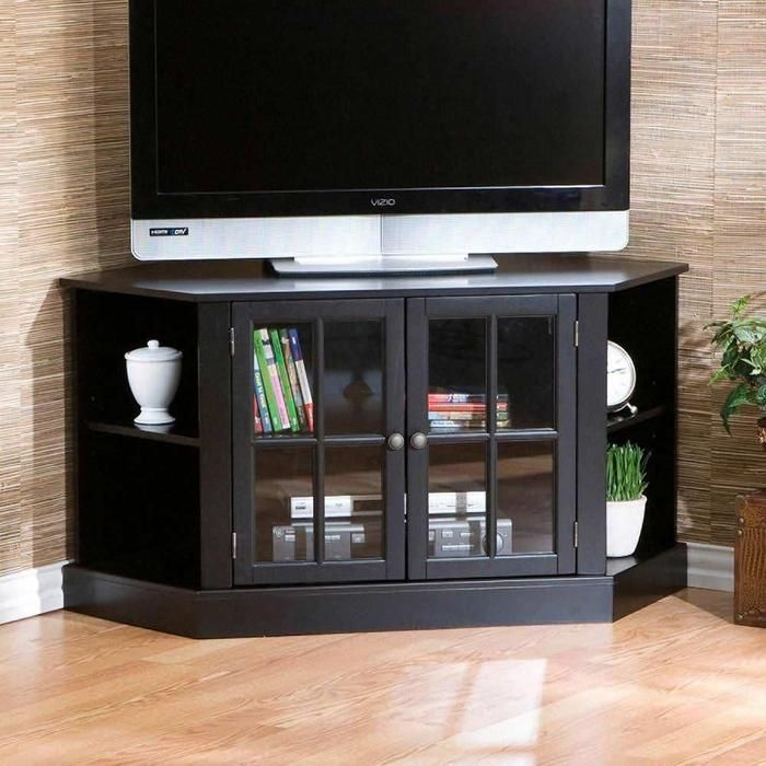 Awesome Favorite Black Corner TV Stands For TVs Up To 60 Intended For 54 Best Tv Stand Corner Images On Pinterest Corner Tv Stands (Image 7 of 50)