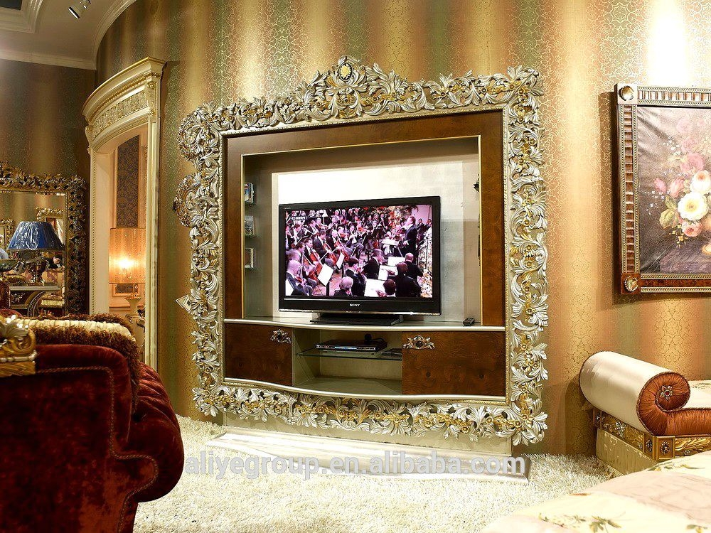 Awesome Favorite Classic TV Cabinets Regarding Tv Cabinet With Showcase Tv Cabinet With Showcase Suppliers And (Image 10 of 50)