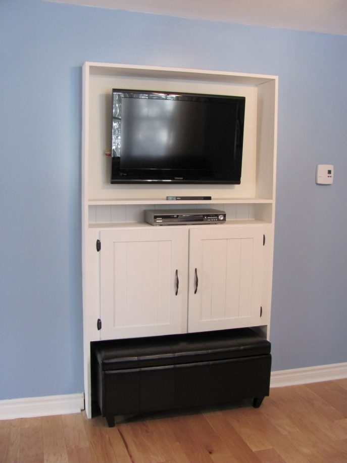 Awesome Favorite Enclosed TV Cabinets With Doors Within Living Room Furniture Glass Door Black Wooden Tv Cabinets Mixed (Image 4 of 50)