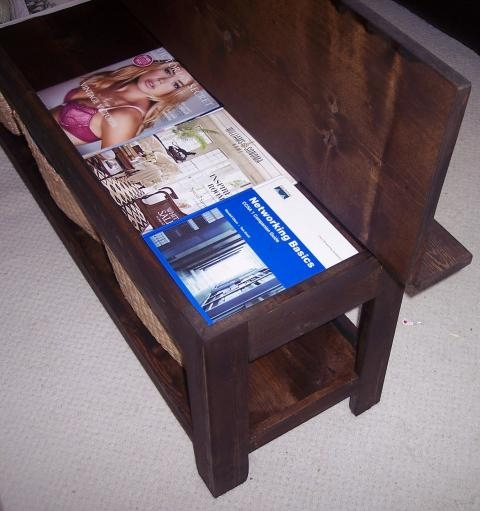 Awesome Favorite Flip Top Coffee Tables Inside Ana White Flip Top Storage Bench Coffee Table Diy Projects (Image 6 of 50)