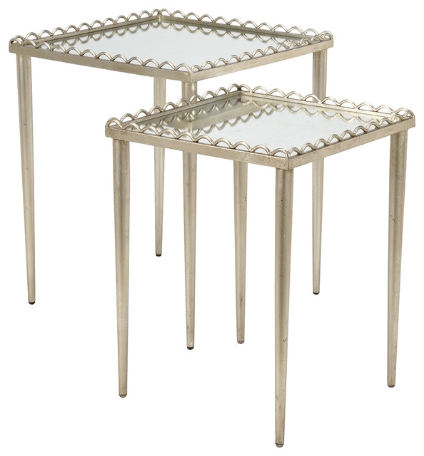 Awesome Favorite Nest Coffee Tables Inside Chelsea House Nottinghill Antique Silver Nest Of Tables 381998 Par (View 47 of 50)