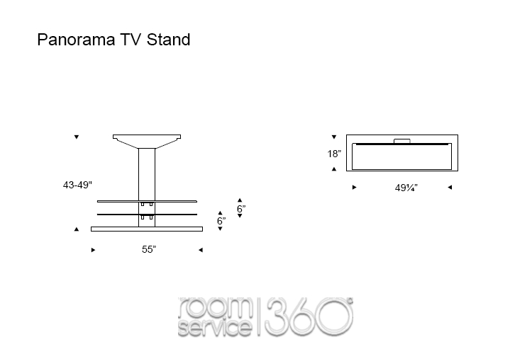 Awesome Favorite Panorama TV Stands Pertaining To Panorama Height Adjustable Plasma Tv Stand Cattelan Italia (View 29 of 50)