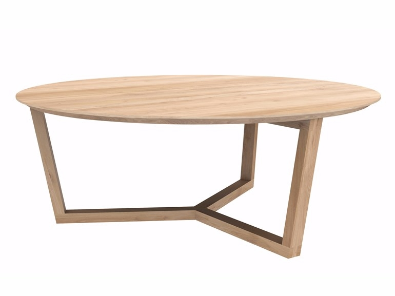 Awesome Favorite Round Oak Coffee Tables With Regard To Oak Tripod Table Coffee Table Ethnicraft (Image 6 of 40)