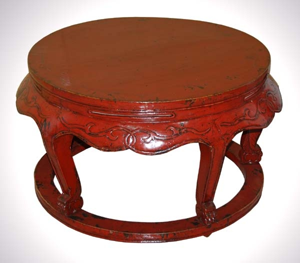 Awesome Favorite Round Red Coffee Tables In Antiques Zaar (Image 4 of 50)