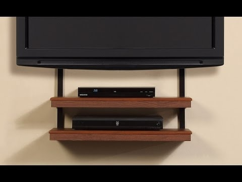 Awesome Favorite Wall Mounted TV Stands With Shelves Pertaining To Wall Shelves Design Corner Tv Wall Mount With Shelves Full Motion (Image 4 of 50)