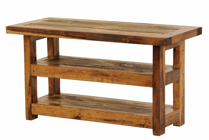 Awesome Favorite Wood TV Stands Within Furniture Interesting Reclaimed Wood Tv Stand For Home Furniture (Image 9 of 50)