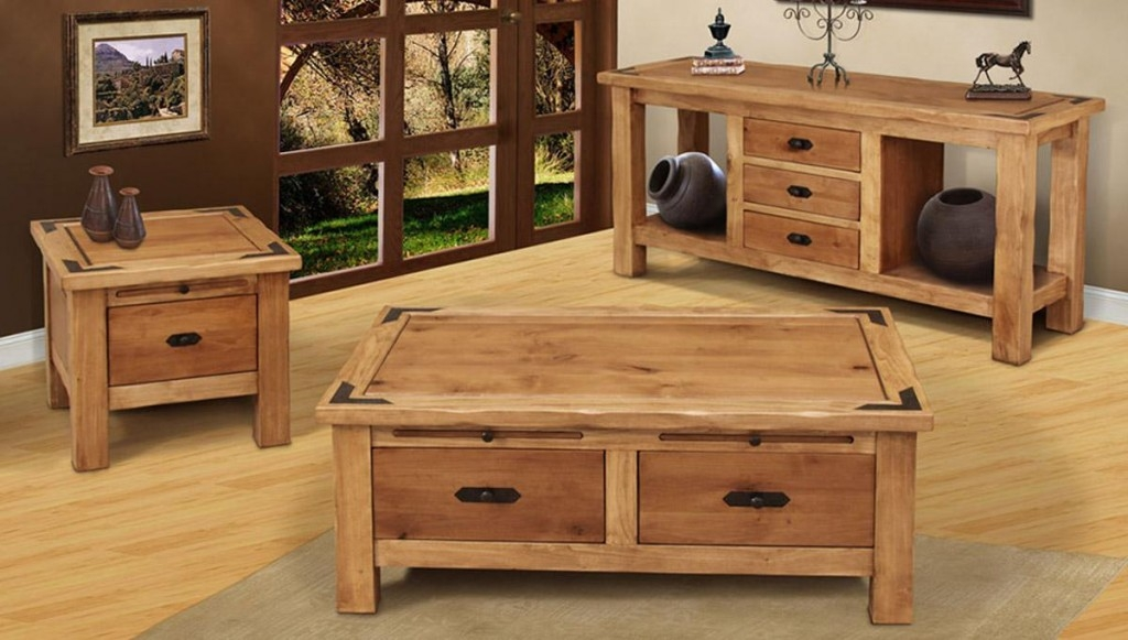 Awesome Favorite Wooden Coffee Tables With Storage Pertaining To Coffee Table Living Room With Outside Garden View Design And (Image 8 of 50)