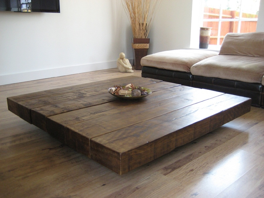 Awesome High Quality Big Square Coffee Tables Pertaining To Beautiful Square Coffee Tables Reclaimed Wood Distressed Table (View 9 of 50)