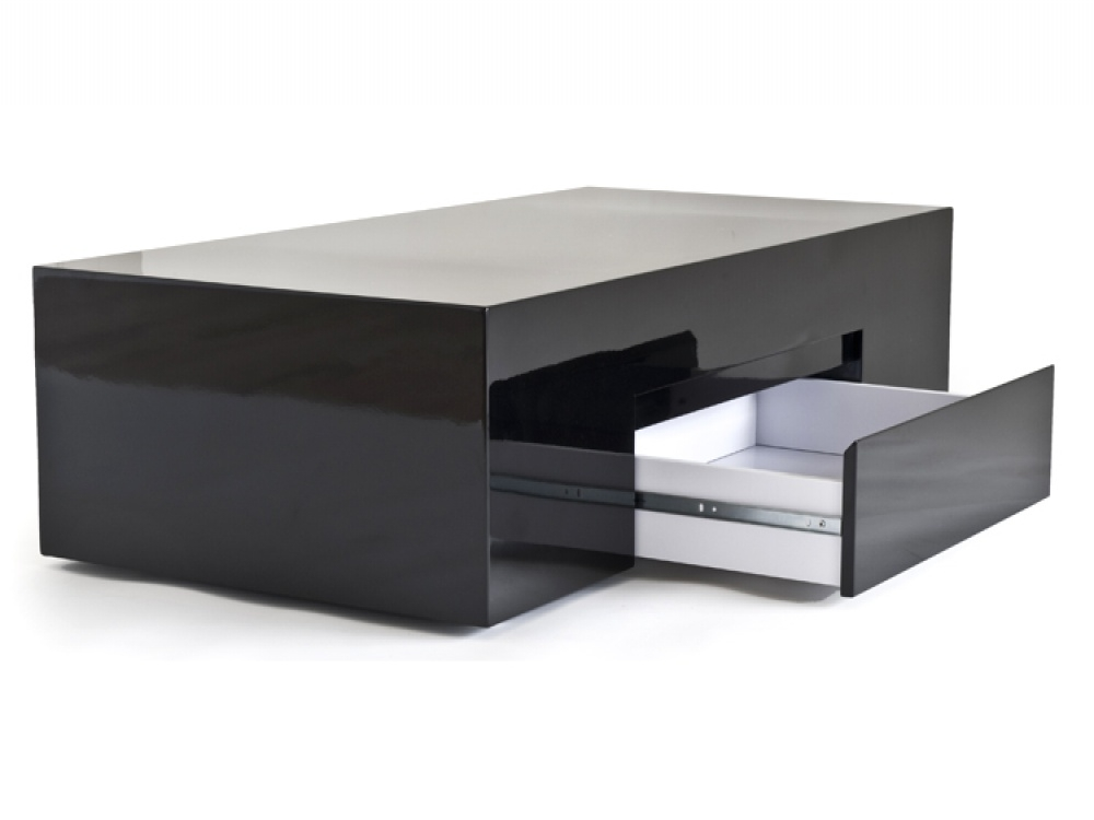 Awesome High Quality Black Coffee Tables With Storage Regarding Black Coffee Table With Storage (Image 5 of 40)
