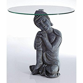 Awesome High Quality Buddha Coffee Tables Regarding Side Table Antique Effect Buddha Deco Table With Glass Top Coffee (Image 10 of 50)
