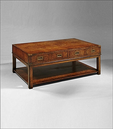 Awesome High Quality Campaign Coffee Tables Pertaining To Hand Crafted Fine Furniture (Image 8 of 50)
