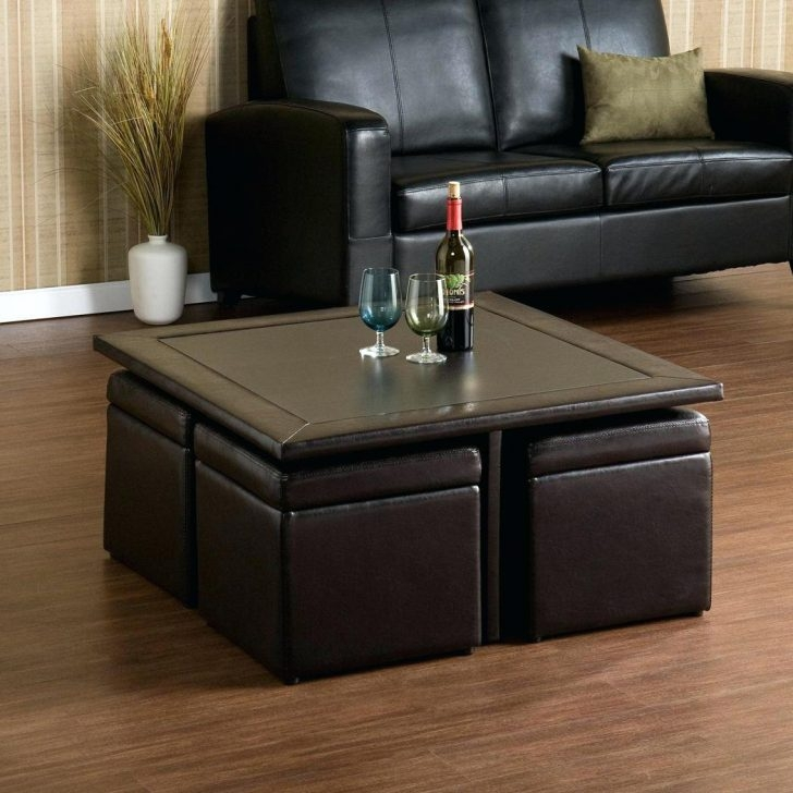 Awesome High Quality Coffee Tables With Baskets Underneath Throughout Square Coffee Table With Stools Underneath Captivating On Ideas (Image 5 of 40)
