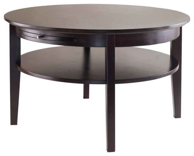 Awesome High Quality Dark Wood Round Coffee Tables With Dark Wood Round Coffee Table Starrkingschool (Image 6 of 50)