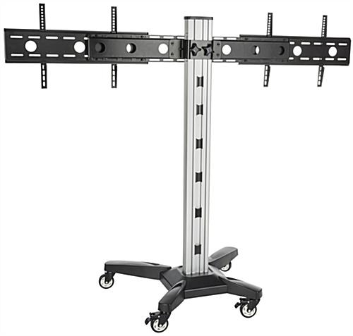 Awesome High Quality Dual TV Stands Throughout Side Side Dual Tv Rack Cable Management (Image 8 of 50)