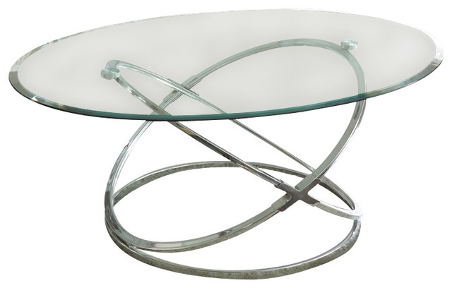 Awesome High Quality Glass And Chrome Coffee Tables Inside Steve Silver Orion 3 Piece Glass Top Coffee Table Set With Chrome (Image 5 of 50)
