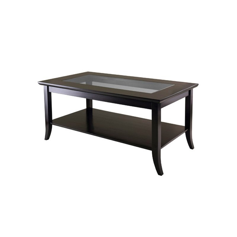 Awesome High Quality Glass Coffee Tables With Shelf Intended For Shel Glass Top Coffee Table With Quatrefoil Underlay Coffee (View 21 of 50)
