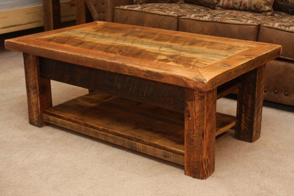 Awesome High Quality Large Low Rustic Coffee Tables With Living Room The Urban Rustic Coffee Tables Live Edge Slab Wood (Image 3 of 50)