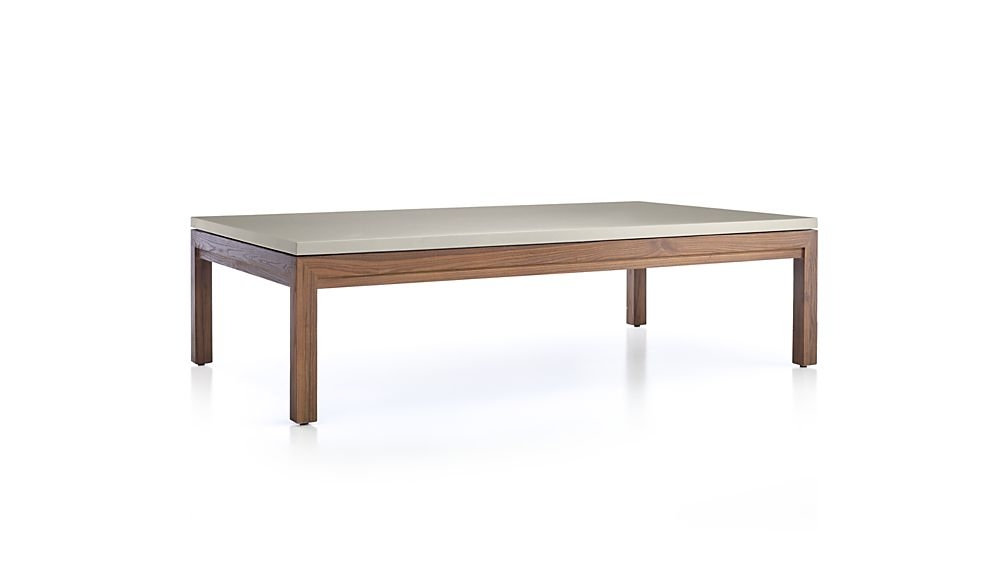 Awesome High Quality Large Rectangular Coffee Tables For Parsons Grey Solid Surface Top Elm Base 60×36 Large Rectangular (Image 6 of 40)